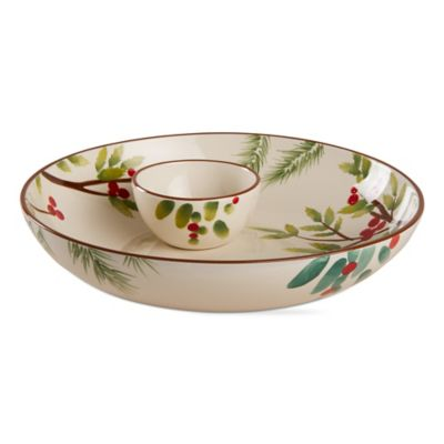 Greenery Chip and Dip Set  sc 1 st  Bed Bath u0026 Beyond & Buy Holiday Dinnerware Sets from Bed Bath u0026 Beyond