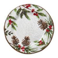 Greenery Melamine Dinner Plates (Set of 4)