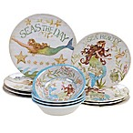 Certified International Sea Beauty by Susan Winget 12-Piece Melamine Dinnerware Set