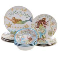 Certified International Sea Beauty by Susan Winget 12-Piece Melamine Dinnerware Set