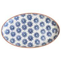 Euro Ceramica Azul Tile Coupe Oval Platter