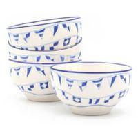 Euro Ceramica Nautical Ahoy Assorted Cereal Bowls (Set of 4)