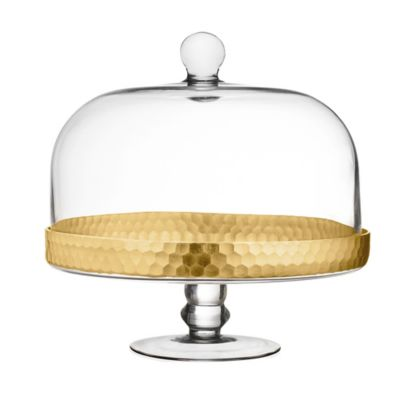 Fitz and Floyd® Daphne Cake Dome Pedestal in Gold  sc 1 st  Bed Bath \u0026 Beyond & Buy Cake Domes from Bed Bath \u0026 Beyond