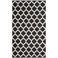 Safavieh Montauk 3' x 5' Zorah Rug in Black