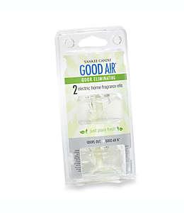 Repuestos para difusor eléctrico Just Plain Fresh™, Yankee Candle® Good Air™, Set de 2