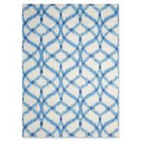 Nourison Sun & Shade Ogee Indoor/Outdoor 5'3 x 7'5 Area Rug in Blue