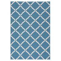 Nourison Home & Garden Geometric 10' x 13' Indoor/Outdoor Area Rug in Blue
