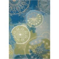 Nourison Home & Garden Floral 10' x 13' Area Rug in Blue