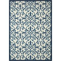Nourison Home & Garden Trellis 10' x 13' Area Rug in Blue