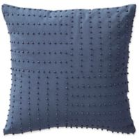 Highline Bedding Co. Jakarta Beaded Square Throw Pillow in Indigo