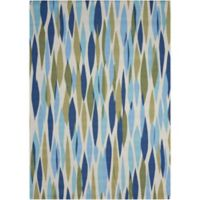 Nourison Waverly Sun & Shade 4'3 x 6'3 Indoor/Outdoor Area Rug in Seaglass