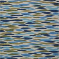 Nourison Waverly Sun & Shade 5'3 Square Indoor/Outdoor Area Rug in Seaglass