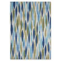Nourison Waverly Sun & Shade 5'3 x 7'5 Indoor/Outdoor Area Rug in Seaglass