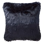 Highline Bedding Co. Jakarta Faux Fur Square Throw Pillow in Indigo