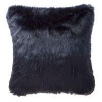 Highline Bedding Co. Jakarta Faux Fur Square Throw Pillow in Indigo