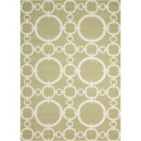 Nourison Waverly Sun & Shade Rings 10' x 13' Indoor/Outdoor Area Rug in Citrine