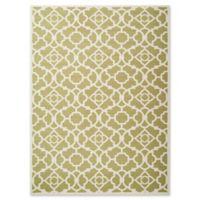 Nourison Sun & Shade Trellis 5'3 x7'5 Indoor/Outdoor Area Rug in Green