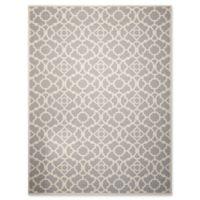 Nourison Sun & Shade Trellis 5'3 x7'5 Indoor/Outdoor Area Rug in Grey