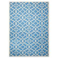 Nourison Sun & Shade Trellis 5'3 x7'5 Indoor/Outdoor Area Rug in Blue