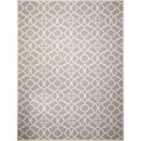 Nourison Sun & Shade Trellis 7'9 x 10'10 Indoor/Outdoor Area Rug in Grey