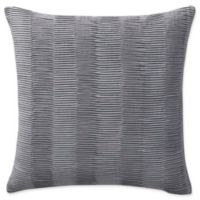 Highline Bedding Co. Jakarta Pleated Square Throw Pillow in Grey