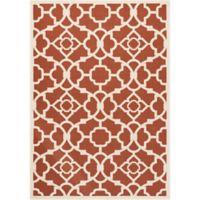 Nourison Sun & Shade Trellis 10' x 13' Indoor/Outdoor Area Rug in Red