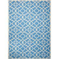 Nourison Sun & Shade Trellis 10' x 13' Indoor/Outdoor Area Rug in Blue