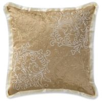 Waterford® Ansonia 16-Inch Embroidered Scroll Square Throw Pillow in Ivory