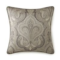 Rose Tree Portici Paisley Throw Pillow in Pewter