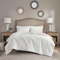 Madison Park Arya Medallion 2-Piece Twin Ultra Plush Comforter Set in Ivory
