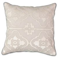 Beautyrest® LaSalle Embroidered Square Throw Pillow in Pumice