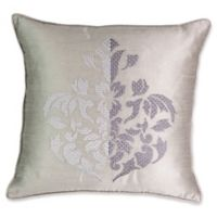 Beautyrest® Chacenay Embroidered Square Throw Pillow in Grey
