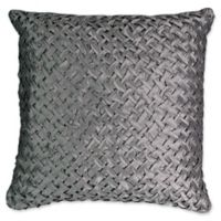 Beautyrest® Chacenay Crosshatch Square Throw Pillow in Pewter