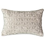 Beautyrest® Social Call Faux Velvet Throw Pillow in Grey