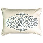 Beautyrest® Avignon Embroidered Throw Pillow in Smoke Blue
