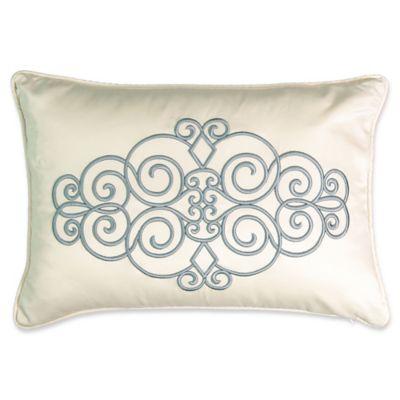 Smoke Blue Throw Pillow : Beautyrest Avignon Embroidered Throw Pillow in Smoke Blue - Bed Bath & Beyond