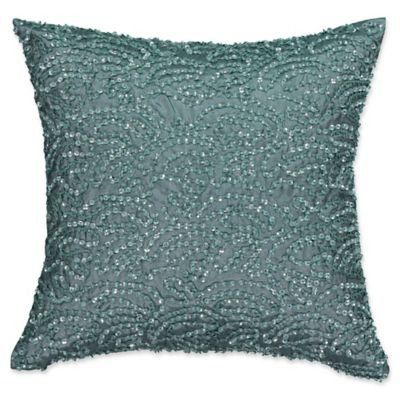 Smoke Blue Throw Pillow : Beautyrest Avignon Sequin Throw Pillow in Smoke Blue - Bed Bath & Beyond