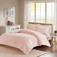 Intelligent Design Laila Chevron Full/Queen Comforter Set in Blush
