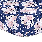The Peanut Shell® Floral Fitted Crib Sheet in Navy