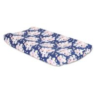 The Peanutshell™ Floral Changing Pad Cover in Navy