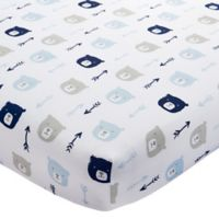 Wendy Bellissimo™ Mix & Match Bear Print Fitted Crib Sheet