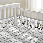 BreathableBaby® Owl Fun 3-Piece Classic Crib Bedding Set in Grey