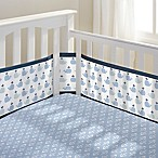 BreathableBaby® Little Whale 3-Piece Classic Crib Bedding Set in Navy
