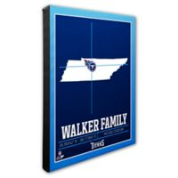 NFL Tennessee Titans 16-Inch x 20-Inch Canvas Wall Art