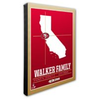 NFL San Francisco 49ers 16-Inch x 20-Inch Canvas Wall Art