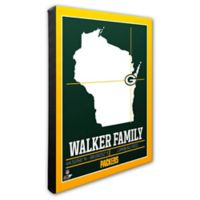 NFL Green Bay Packers 20-Inch x 24-Inch Canvas Wall Art
