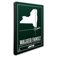 NFL New York Jets 20-Inch x 24-Inch Canvas Wall Art