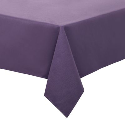 Keeco 90 Inch Round Basket Weave Tablecloth In Purple