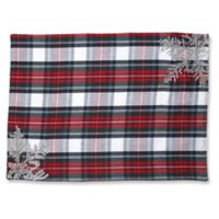 Pillow Perfect Stuart Plaid Placemats in White (Set of 2)