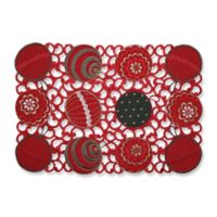 Pillow Perfect Ornaments Placemats in Red/Green (Set of 2)